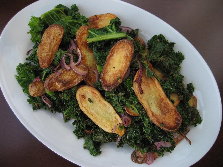 Kale and Roasted Fingerling Potato Salad |